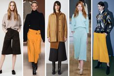From left to right: Frame Denim, Victoria Beckham, Opening Ceremony, Tibi and Sachin   Babi