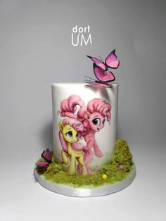 34 trendy cake decorating with fondant birthdays baby shower - Cake Decorating Simple Ideen Fondant Cakes, Cupcake Cakes, Pinkie Pie Cake, My Little Pony Cake, Cake Decorating With Fondant, Hand Painted Cakes, Horse Cake, Gateaux Cake, Birthday Cake Girls