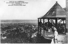 Vue de Montréal depuis l'un des belvédères du mont Royal, Montréal, QC, vers 1910