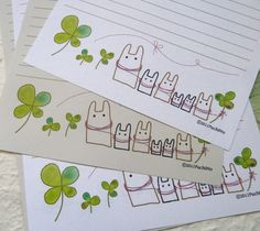 letterpaper /  Clover by PuchiMo on Etsy, $3.99