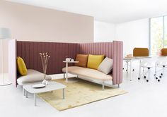 Ophelis sum is a modular seating concept with three core elements that can be combined in various ways enabling a variety of seating islands in a room.