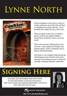 Book signing at 'Look Into Books', Cleveleys, Blackpool, Saturday 14th September 2013!