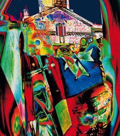 """Nino Migliori, """"Celebra(R.E.) la bandiera"""", pure pigmented print on 100% cotton paper, cm 59x51, dal catalogo della mostra """"Novanta artisti per una bandiera"""", ©2013 corsiero editore"""