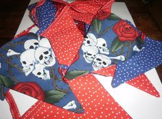 Skulls and Polka Dots Bunting | wowthankyou.co.uk