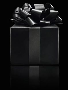 Wish my gifts could come in this beautiful Black gift box or at least Black and white.