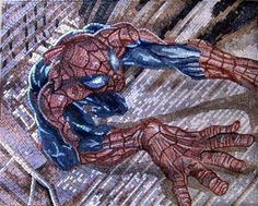 """32x40"""" Spider Man Marble Mosaic Art Tile Mural Must See by mozaico. $470.00. Mosaics have endless uses and infinite possibilities! They can be used indoors or outdoors, be part of your kitchen, decorate your bathroom and the bottom of your pools, cover walls and ceilings, or serve as frames for mirrors and paintings."""