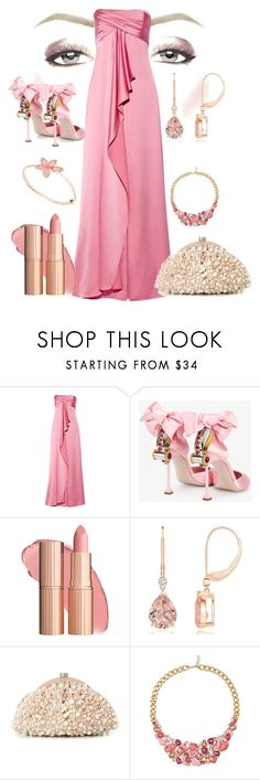 """Pink Elegance"" by quirico ❤ liked on Polyvore featuring Halston Heritage, Miu Miu, Santi and Avon"