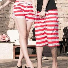 Couple Stripe Shorts from #YesStyle <3 K-Style YesStyle.com