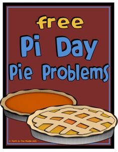 Pi Day Pie Problems FREEBIE