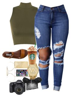 """Untitled #15"" by simplyuniquee on Polyvore featuring WearAll, CÉLINE, Steve Madden, Mela Loves London, Michael Kors and Eos"