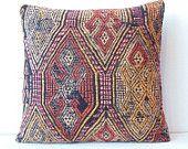 Handwoven Decorative Kilim Pillow cover- decorative cushion- decorative pillow- tribal pillow- ethnic pillow- throw pillow- accent pillow. $30.00, via Etsy.