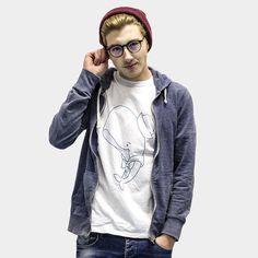 Sailor whale 100% cotton tshirt