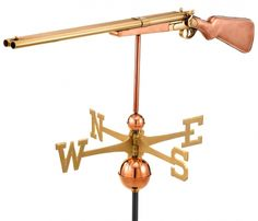 Shotgun - Large Rooftop Copper Weathervane
