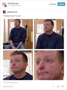 """And when you actually make """"the face"""". 