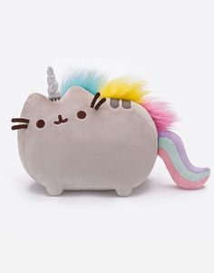 Pusheen the Cat Pusheenicorn Unicorn Clip-On Backpack Plush Key Chain Gund New #Gund