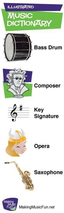 Illustrated Music Dictionary for Kids - MakingMusicFun.net (Scheduled via TrafficWonker.com):