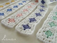 Crochet Baby Blanket Free Pattern, Crochet For Beginners Blanket, Baby Afghan Crochet, Manta Crochet, Granny Square Crochet Pattern, Crochet Stitches, Crochet Patterns, Crochet Sunflower, Crochet Bookmarks