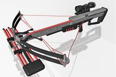3D crossbow weapon model in FBX 3D model format that works with most 3D modeling software.