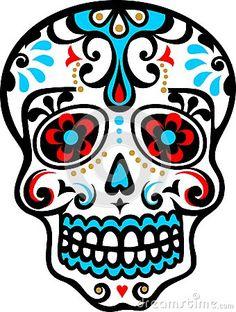 DIA De Los Muertos Skulls | Mexican skull - el dia de los muertos - day of the dead - vector image