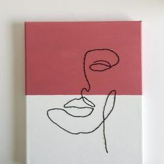 Mini Canvas Art, Diy Canvas, Diy Wall Art, Diy Art, Art Mini Toile, Art Fil, Thread Art, Digital Art Tutorial, Easy Paintings
