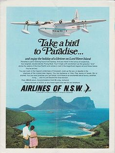 Ansett Airlines of N. Advert from Timetable Vintage Airline, Vintage Travel Posters, Sea Planes, Float Plane, Flying Boat, Old Advertisements, Poster Ideas, Air Travel, Airplanes