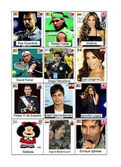 Time's Up con personajes hispanohablantes Naipes 13-24 Ficha para imprimir, plastificar y recortar