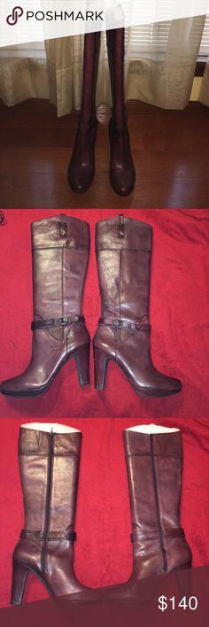 Gianni Bini Boots Brand New Burgundy Gianni Bini Boots never been worn !!!!! ⚠️OFFERS WELCOMED⚠️ Gianni Bini Shoes Heeled Boots
