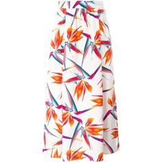 Fendi orchid print skirt (113.645 RUB) ❤ liked on Polyvore featuring skirts, white, high waisted pleated maxi skirt, white maxi skirt, white skirt, pleated skirt and long skirts