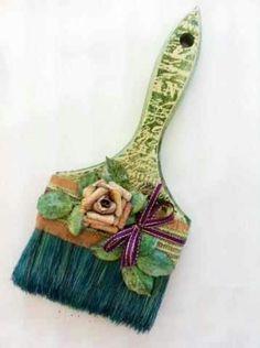 Upcycled paintbrush