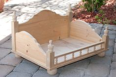 Custom Wood Dog Pet Bed Doggie Beds Cat Bed by DesignsbyJaiMaylyn