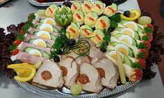 Antipasto, Cold Dishes, Party Platters, Finger Foods, Food Art, Carne, Sushi, Buffet, Bacon