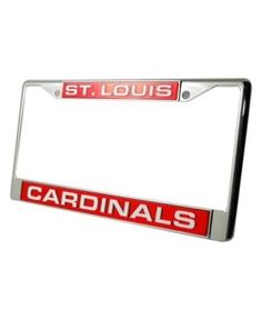 rico industries st louis cardinals license plate frame team color