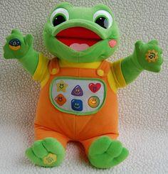 LeapFrog Baby Tad Hug & Learn Musical Light-Up Plush Frog Educational Toy #LeapFrog
