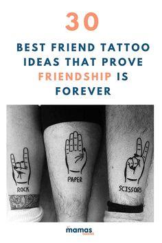 Small Best Friend Tattoos, Small Matching Tattoos, Matching Best Friend Tattoos, Tattoos For 3 Friends, Worst Tattoos, Unique Friendship Tattoos, Symbols Of Friendship, Unique Tattoos, Bestie Tattoo