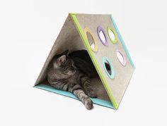 Cat house Modern cat furniture Triangle cat house от CatsbyDesign