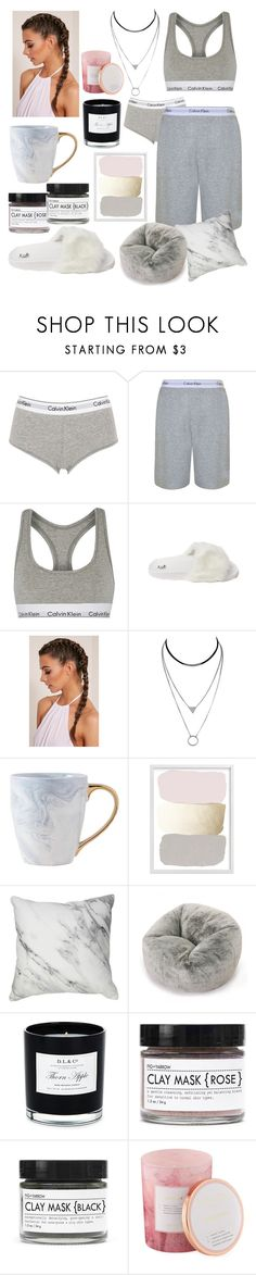 """Marble home style"" by polina18necko ❤ liked on Polyvore featuring Calvin Klein Underwear, Calvin Klein, D.L. & Co. and Fig+Yarrow"
