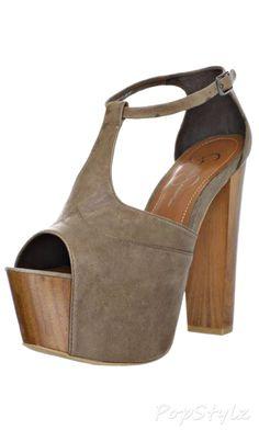 Jessica Simpson Dany Leather Platform Sandal