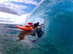 Kayak Barrel... so pitted, such a perfect shot! the Photographer rocks :)