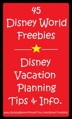 For a list of 45 Great Disney World Freebies and our free Disney-focused e-newsletter, see: http://www.buildabettermousetrip.com/disney-freebies/   #DisneyFreebie