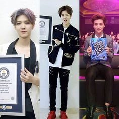 Luhan - Guinness World Records 1st: 2014.8.19 2nd: 2015.9.2 3rd: 2016.3.26 We are always here with Luhan ❤️ . . cr. ohmydeer0420 #luhan #luhanieexom #likes4likes