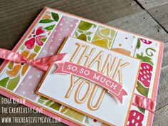 Check out the fun Video tutorial and extra ideas for using DSP or Printed papers in your cards on my blog: www.thecreativitycave.com #stampinup #thecreativitycave #printedpaper #cardlayout
