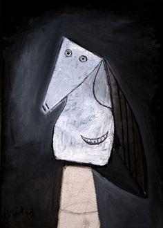 Pablo Picasso - Tête de femme souriante