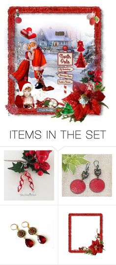 """North Pole"" by nanitas23 ❤ liked on Polyvore featuring art, Christmas, Beauty, etsy and jewerly"