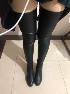 Thigh High Boots Heels, Heeled Boots, Sexy Boots, Black Boots, Crotch Boots, Promo Girls, Gloves Fashion, Dress Gloves, Sexy Teens