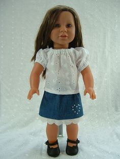 American Girl / 18 Inch Doll Clothes  Denim by JustDollClothes, 16.00