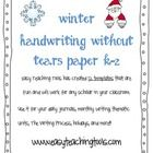 Are you needing some cute Handwriting without Tears paper for the holiday and winter season???  This packet comes with 6 different templates for ...