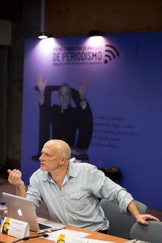 Así han transcurrido las primeras horas de 3 días de festival de periodismo, que se desarrollan en Medellín como homenaje al Maestro Gabo.   Foto: David Estrada Larrañeta/FNPI. — con Stephen Ferry.