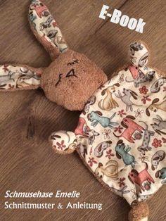 Nähanleitungen Baby - E-Book Schmusehase Emelie - ein Designerstück von monsta-bella bei DaWanda