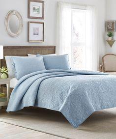 Blue Felicity Quilt Set by Laura  Ashley  Home F/Q $64.99    100%cotton