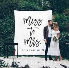 Miss To Mrs Sign, Bridal Shower Backdrop, Bridal Shower Decorations, Future Mrs Banner, Bridal Backdrop, Bridal Shower Sign, Bridal Party Memories may fade but photographs last forever. Big, bold and beautiful, our customized backdrops elegantly and affordably set the scene for photography. Display